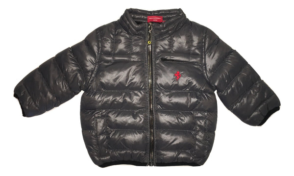 Ferrari Baby Boys Padded Grey Jacket With Removable Hoodie