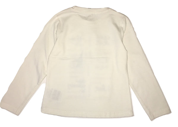Gaialuna Girls Cream Long Sleeves Top With Front Text