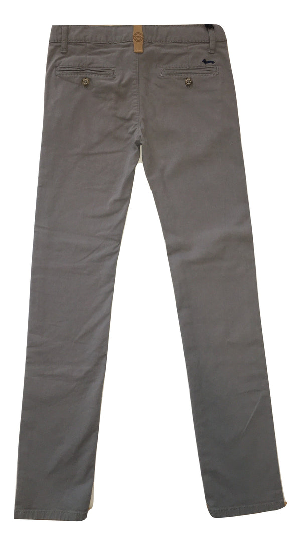 Harmont & Blaine Boys Grey Chino Trousers With Logo