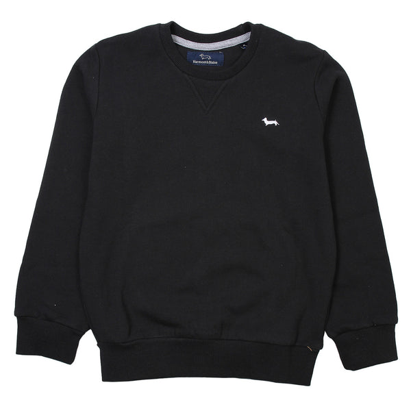 Harmont & Blaine Boys Black Jumper With Front Logo