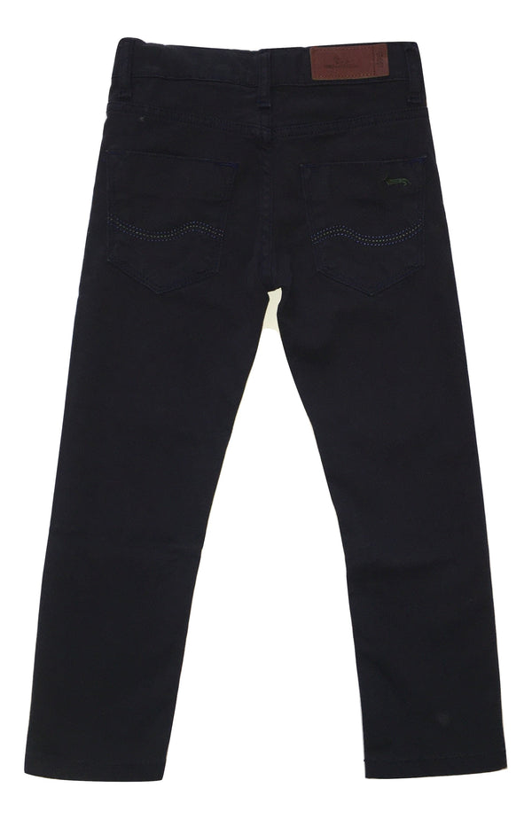 Harmont & Blaine Boys Navy Blue Trousers With Back Logo