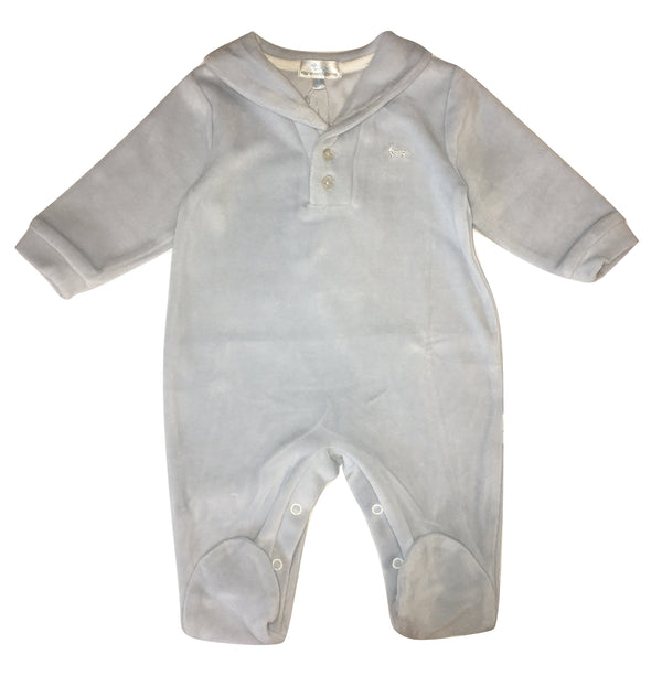 Harmont & Blaine Baby Boy Light Blue Babygrow With Logo