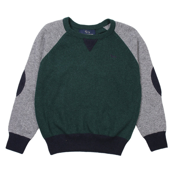 Harmont & Blaine Boys Green/ Grey / Blue  Knitted Sweater