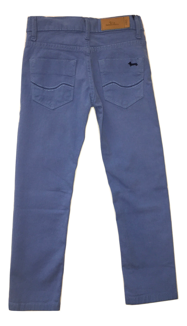 Harmont & Blaine Boys Light Blue Trousers With Logo