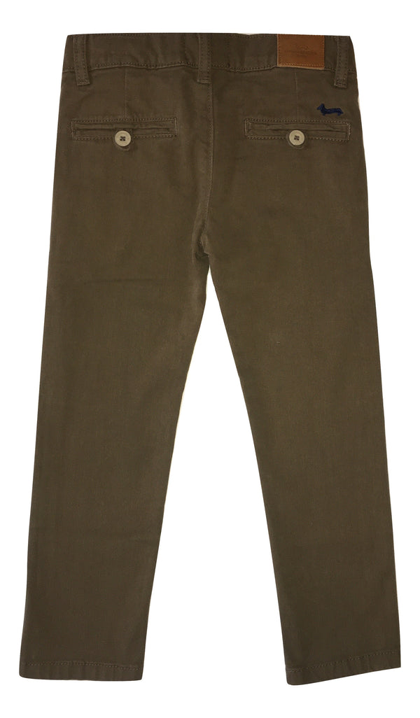 Harmont & Blaine Boys Brown Chino Trousers With Logo