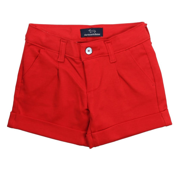 Harmont & Blaine Girls Red Shorts With Logo
