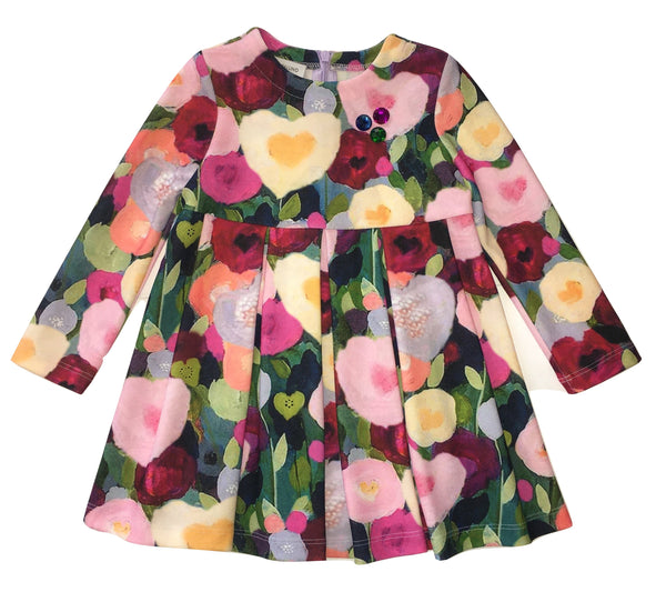 I Pinco Pallino Girls Colourful Flowery Dress