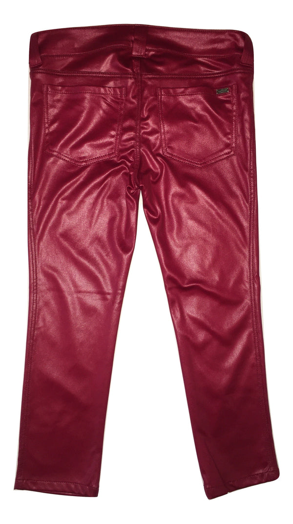John Galliano Girls Red Skinny Trousers With Logo