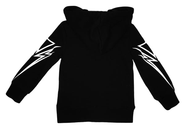 John Richmond Boys Black and White Cotton Hoodie With Logo