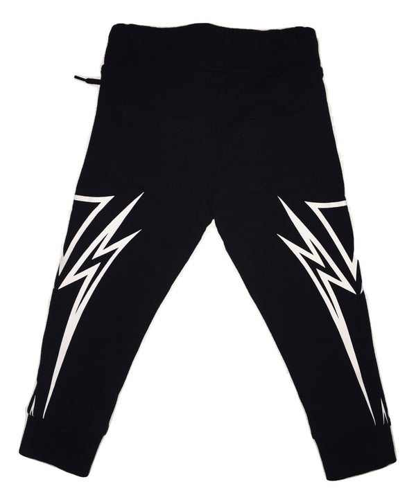 John Richmond Boys Black and White Cotton Joggers