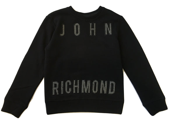 John Richmond Boys Black Sweater With Front Logo