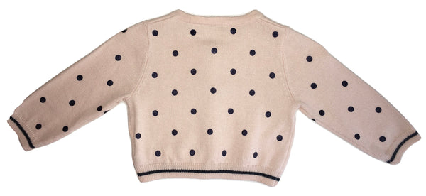 Liu Jo Baby Girls Cream With Blue Polka Dots Cardigan