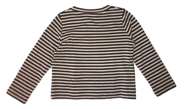 Liu Jo Baby Girls Black And Pinkish Striped Top
