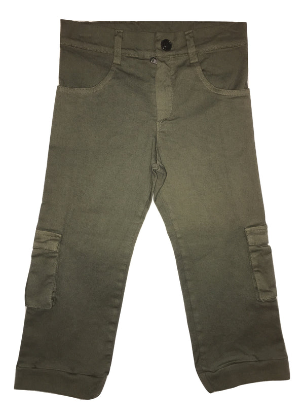 Le petit coco Boys Military Green Trousers