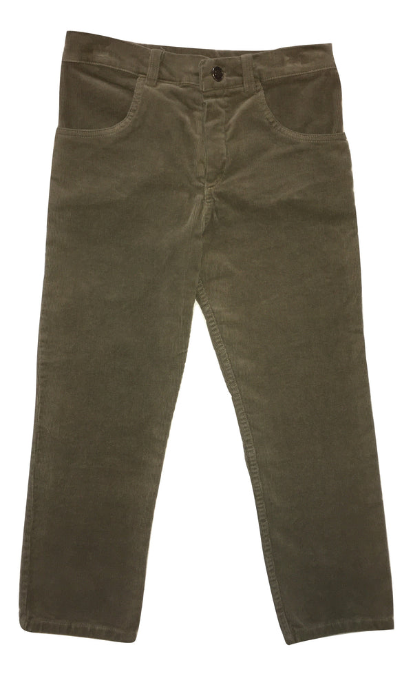 Le petit coco Boys Green Corduroy Trousers
