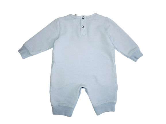 Le petit coco Light Blue Footless Babygrow