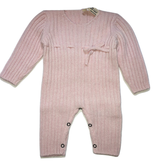 Le petit coco Girls Pink Footless And Warm Babygrow