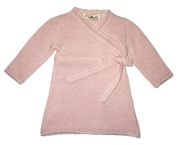 Le petit coco Baby Girls Pink Dress With Bow