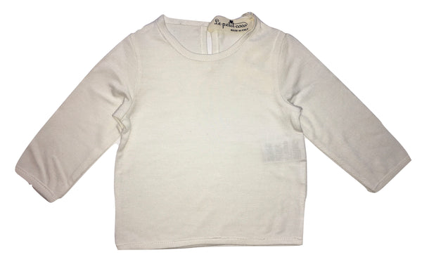 Le petit coco Baby Girls White And Comfy Top