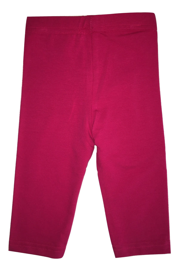 Maelie Baby Girls Fuschia Leggings With Logo