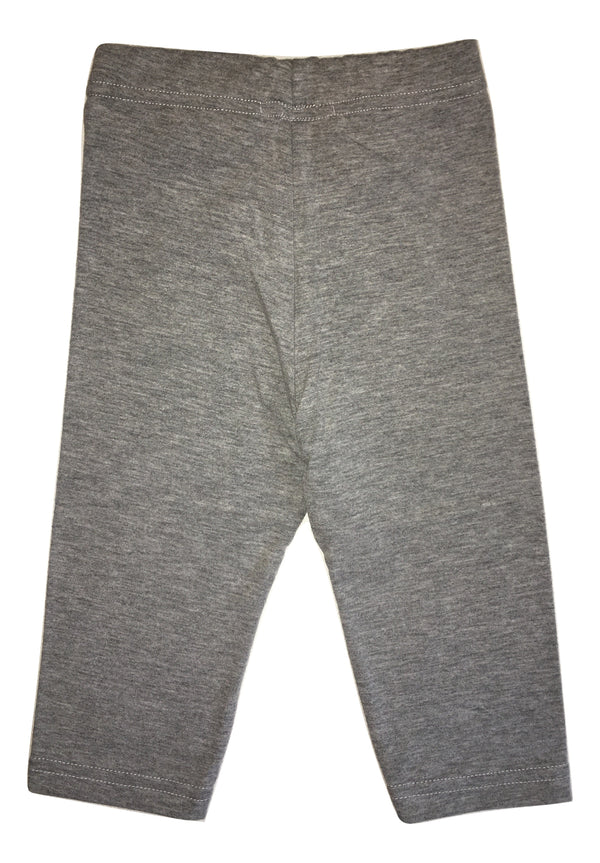 Maelie Baby Girls Grey Leggings With Logo