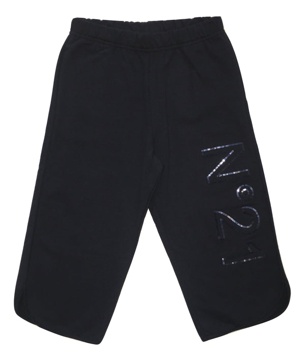Numero 21 Girls Navy Blue Trousers With Front Logo