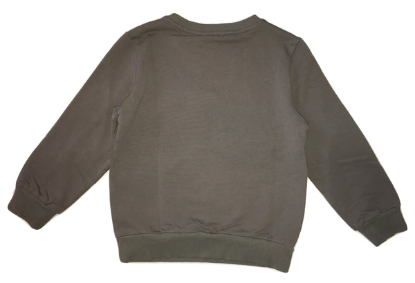 Peuterey Boys Grey Sweater With Front Logo