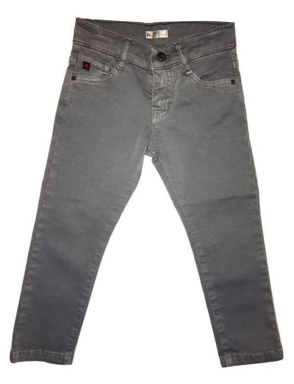 Peuterey Boys Grey Jeans With Logo