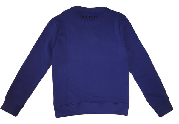 John Richmond Boys Blue Sweater With Front and Back Logo