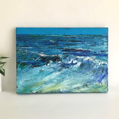 seaside painting, wave painting, original painting