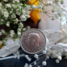 Load image into Gallery viewer, Wedding Sixpence, Something blue, Silver Sixpence, I Do Silver,