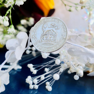 Wedding Sixpence, Something blue, Silver Sixpence, I Do Silver,