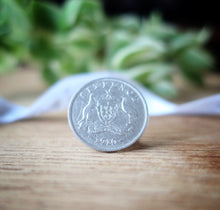 Load image into Gallery viewer, silver sixpence, wedding sixpence, brides gift, sixpence for bride, graduation, birthday, anniversary, wedding, gift, Australian, i do silver