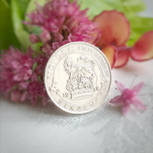 King George V Silver Sixpence 1911 to 1920