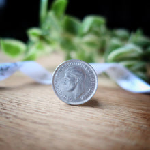 Load image into Gallery viewer, silver sixpence, wedding sixpence, brides gift, sixpence for bride, gray, wedding, gift, silver sixpence, wedding sixpence, brides gift, sixpence for bride, graduation, birthday, anniversary, wedding, gift, Australian, i do silver, i do silver