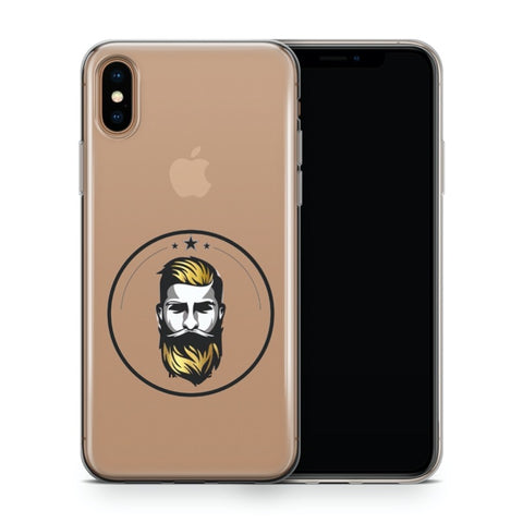 iPhone X/XS Ultradünne Silikon Schutz Hülle - Barber Gold