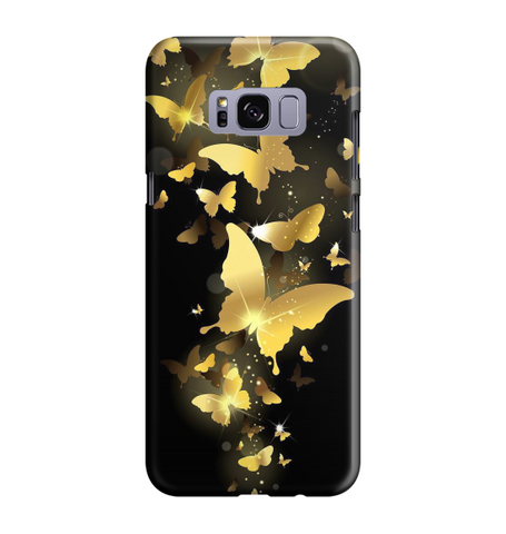 Samsung Galaxy S8 Handyhülle Hard Case - Goldige Schmetterlinge