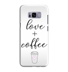 Samsung Galaxy S8 Handyhülle Hard Case - love + coffe