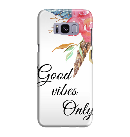 Samsung Galaxy S8 Handyhülle Hard Case - Farbige Blumen 20 good vibes only