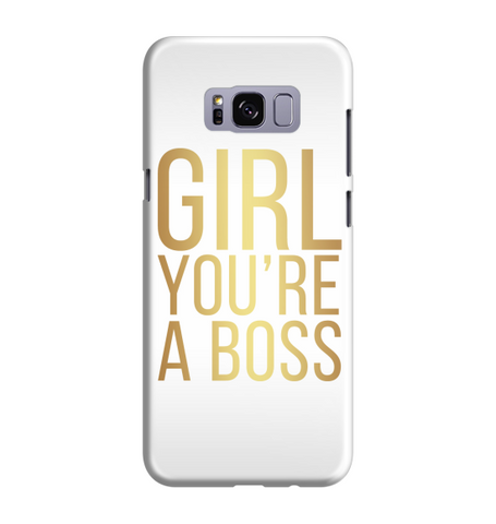 Samsung Galaxy S8 Handyhülle Hard Case - girl you're a boss