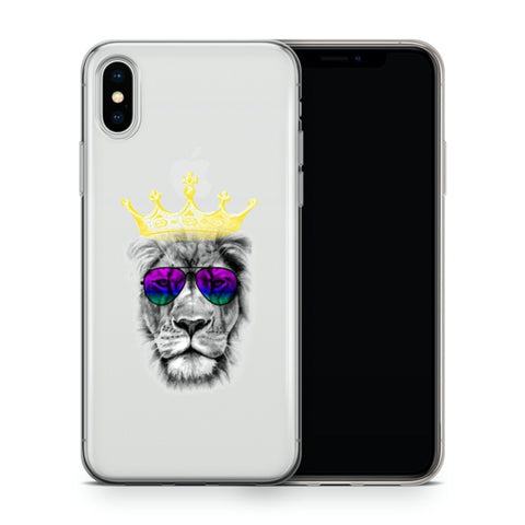 iPhone X/XS Ultradünne Silikon Schutz Hülle - Lion King