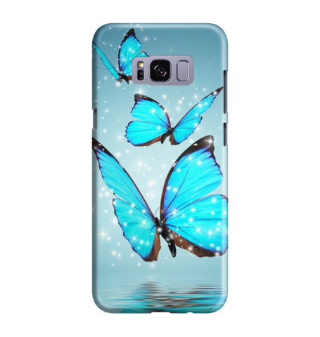 Samsung Galaxy S8 Handyhülle Hard Case - Blaue Schmetterlinge
