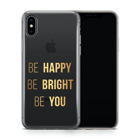 iPhone X/XS Ultradünne Silikon Schutz Hülle - Be Happy