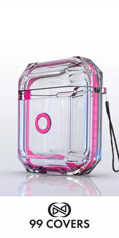 AirPods Protection Series Hardcase Schutzhülle - Clear Neon Pink
