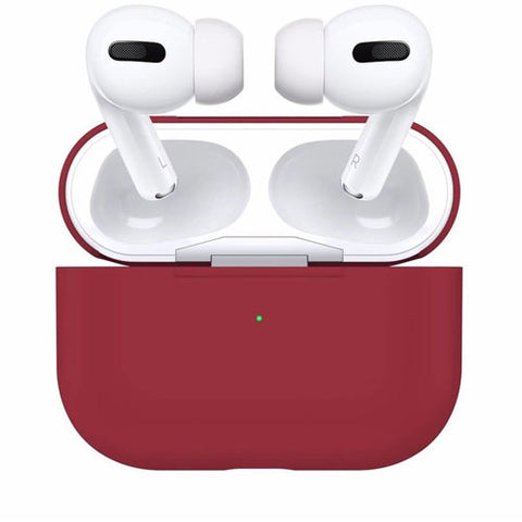Airpods Pro - Silikon Case - Bordeaux Rot