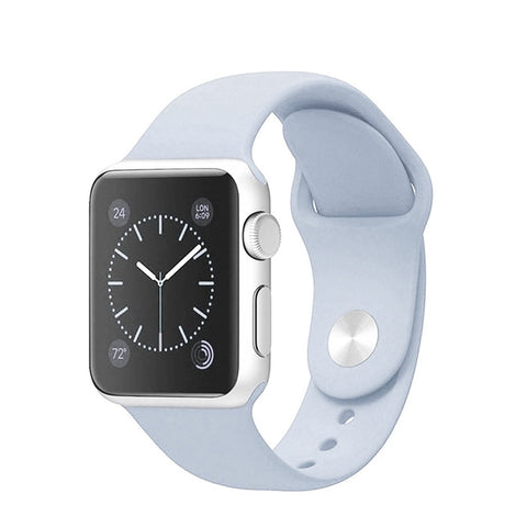 Apple Watch Silikon Armband (Grösse 38/40mm) - Himmel Blau
