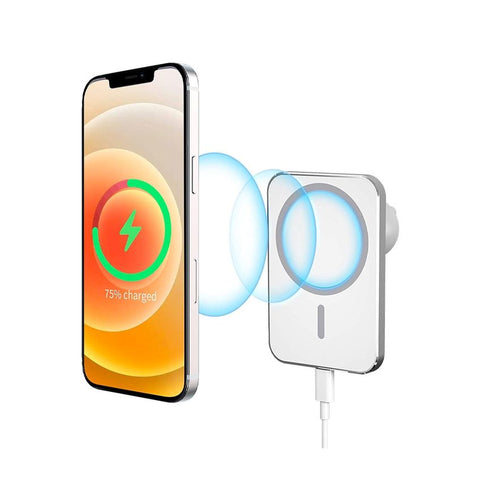 MagSafe Auto Halterung Qi Wireless Fast Charging Ladestation (15W) - Weiss