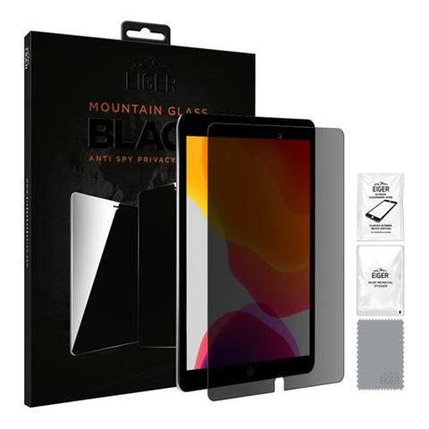 iPad 10.2 (2019) Eiger Displayschutz Mountain Glass - Black Privacy