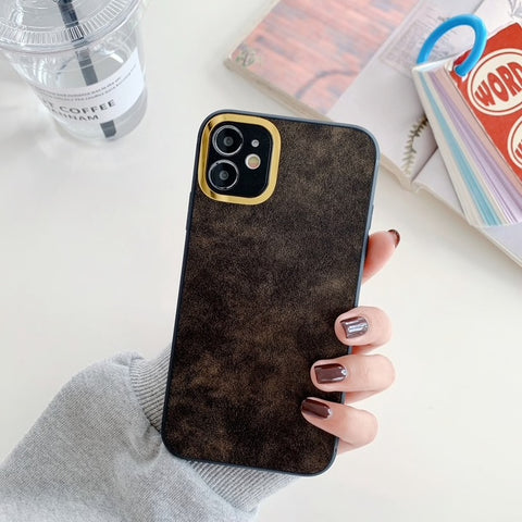 iPhone 11 Pro Max Leather Premium Series Handyhülle - Anthrazit Grau