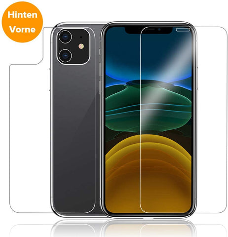 iPhone 11 Panzer Glas vorne/hinten Case Friendly
